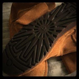 Uggs unique year around suede slip on boots